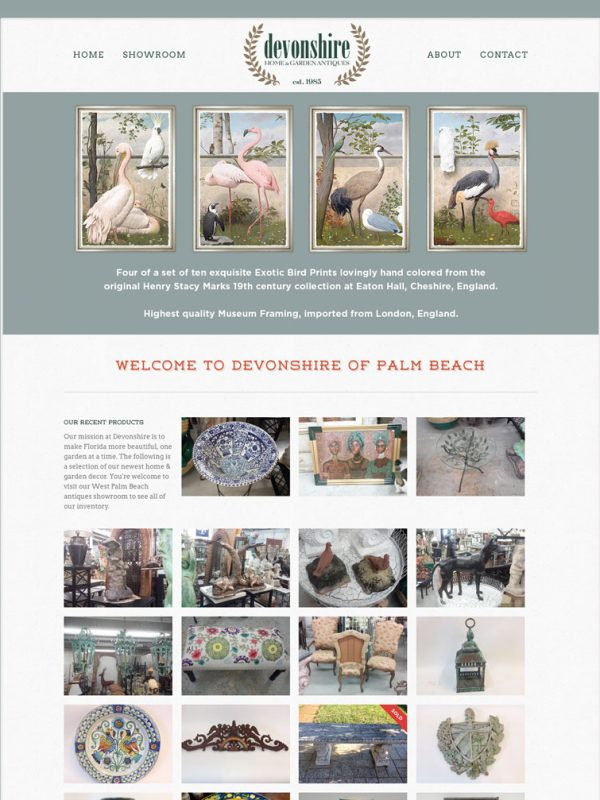 Devonshire of Palm Beach - Web Design