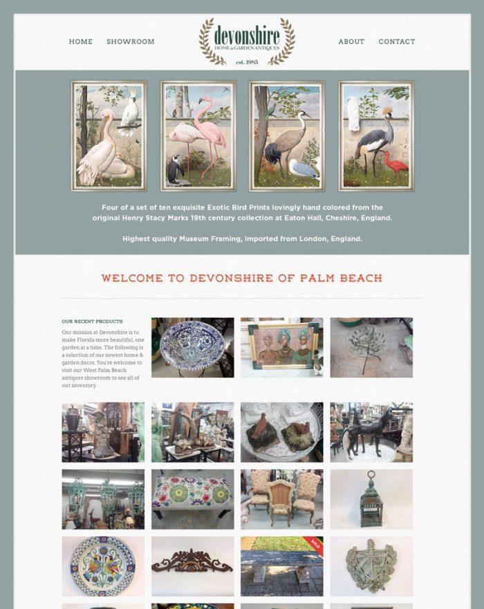 Devonshire of Palm Beach - Web Design