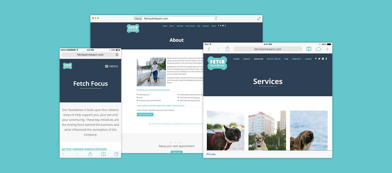 Fetch Palm Beach Responsive Website