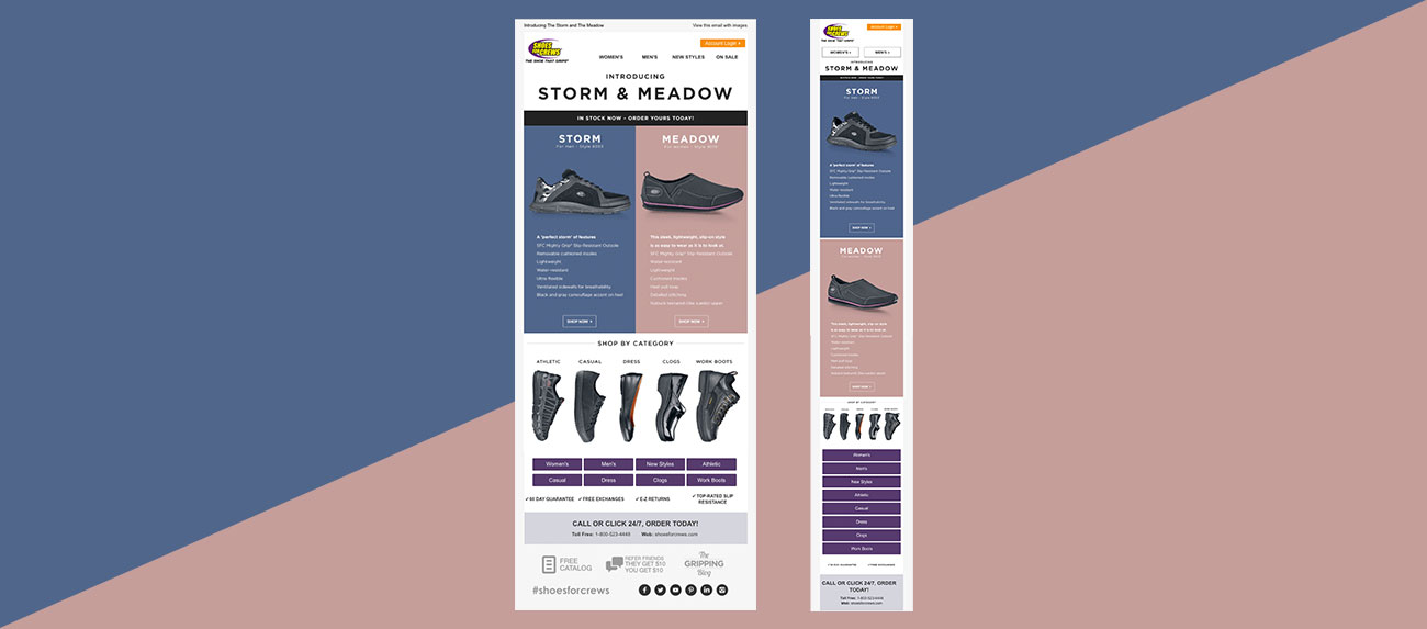 Shoes For Crews - Responsive Email Design